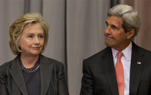 Hillary Clinton and John Kerry / AP