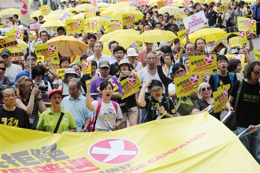 H.K. pro-democracy protesters march