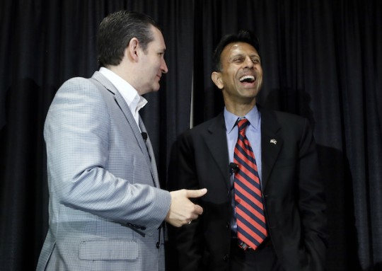 Ted Cruz and Bobby Jindal (AP)