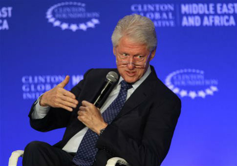 Bill Clinton speaks at the Clinton Global Initiative Middle East & Africa meeting in Marrakech, Morocco / AP