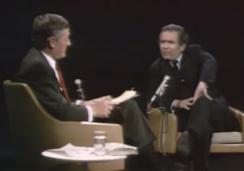 Buckley and Mailer on 'Firing Line' in 1968 (screenshot)
