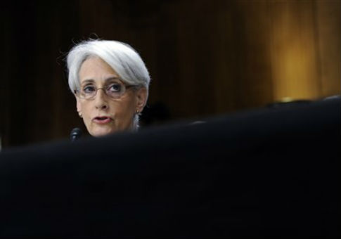 The State Department's Wendy Sherman testifies before the Senate Foreign Relations Committee / AP