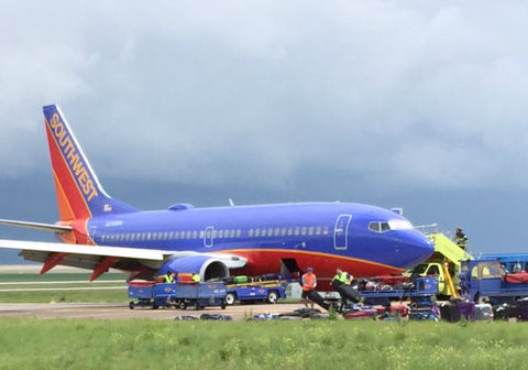 Grounded Southwest flight