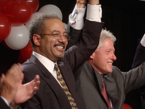 Former President Bill Clinton with Rep. Chaka Fattah (D., Pa.) in 2003 / AP