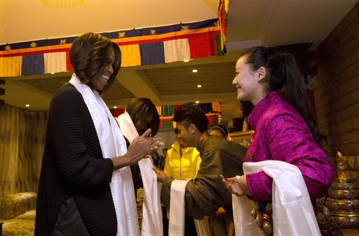 Michelle Obama in China / AP
