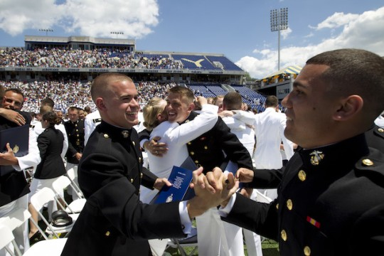 New Marine officers graduate at the Naval Academy