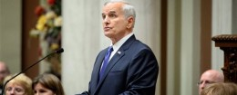 Minnesota Gov. Mark Dayton, who vetoed a bill that would have regulated abortion clinics / AP
