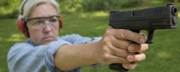 Old woman with a gun