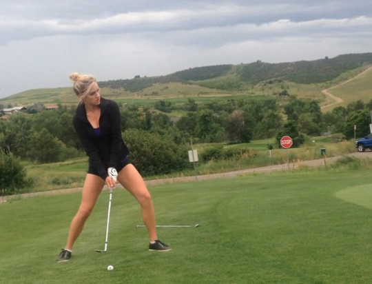 Watch This Perfect Shot From Special Golf Talent Paige