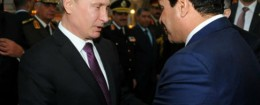 Vladimir Putin and Abdel-Fattah el-Sissi meeting in Egypt / AP