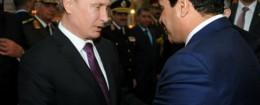 Vladimir Putin and Abdel-Fattah el-Sissi meeting in Egypt / AP
