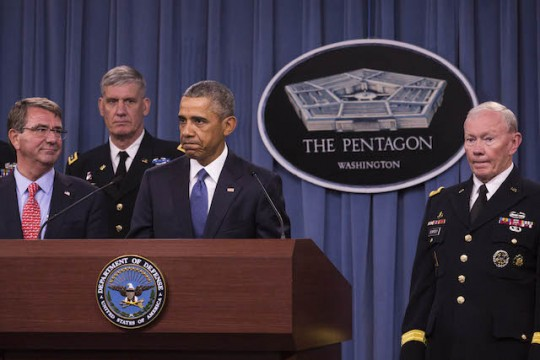 President Obama Recieves An Update On Isis At The Pentagon - Arlington