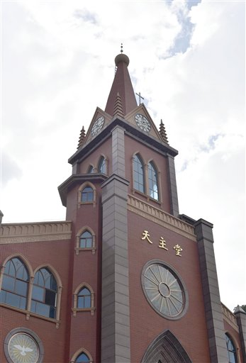 Church without cross in China / AP