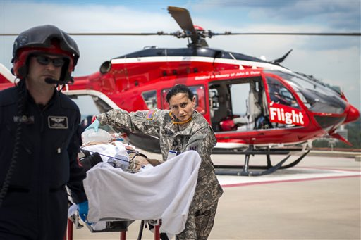 A medical transport for Life Flight. James 'Red' Duke, the founder of Life Flight, died Tuesday. / AP