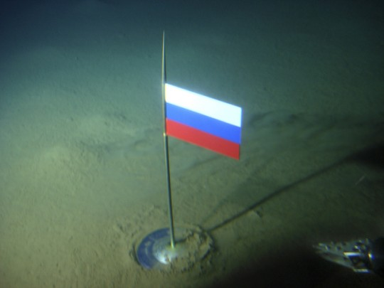 Russian flag on floor of Arctic Sea / AP