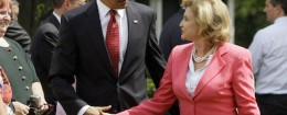 Barack Obama and Carolyn Maloney in 2009