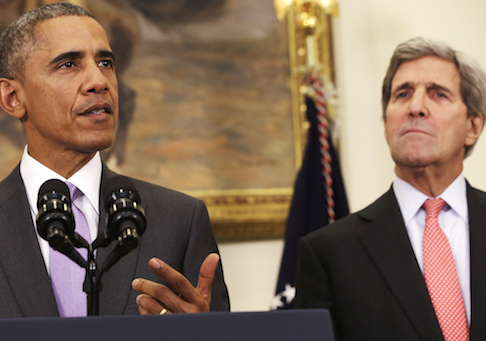 Barack Obama and John Kerry