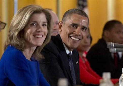 Caroline Kennedy and Barack Obama