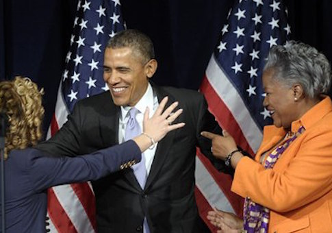 Debbie Wasserman Schultz, Barack Obama and Donna Brazile
