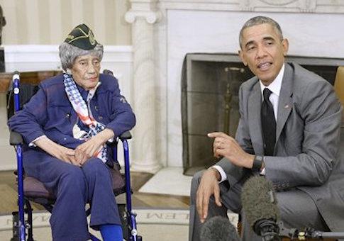 Emma Didlake and Barack Obama