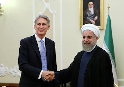 Philip Hammond and Hassan Rouhani