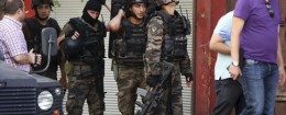 Turkish police special forces in Diyarbakir
