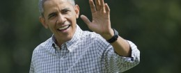 President Barack Obama this Sunday was seen not wearing his wedding ring / AP