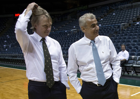 Billionaire Democratic donors Wesley Edens, left, and Marc Lasry, right / AP