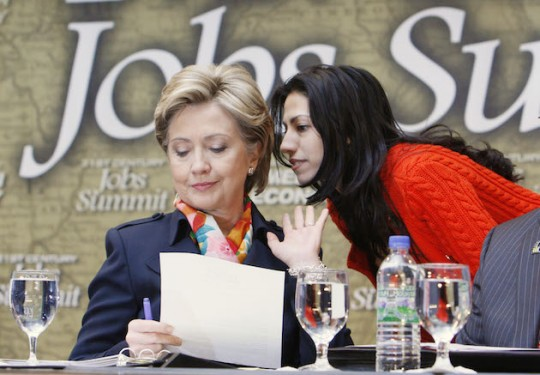 Hillary Clinton and Huma Abedin (AP)