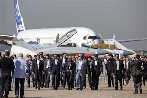 Iranian delegation at #MAKS2015