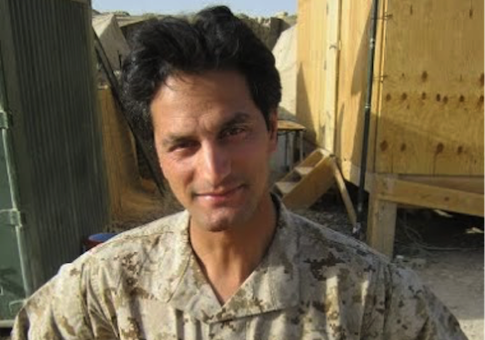 Kazikhani at Camp Delaram where he embedded with Marines