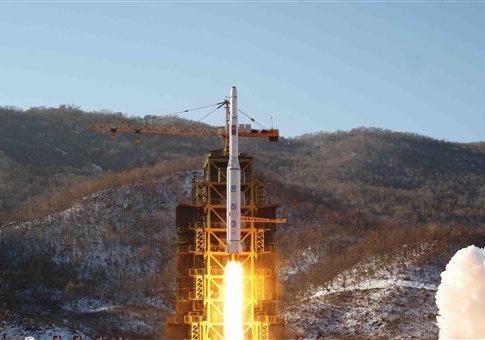 North Korea's Unha-3 rocket in 2012