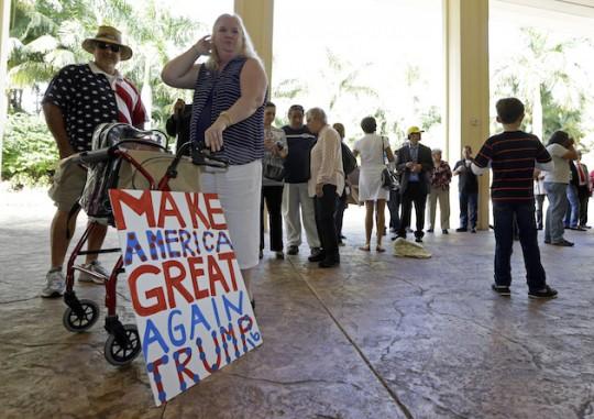 Trump fans. (AP)
