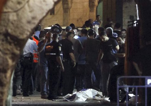 Israeli police stand by body of Muhannad Halabi