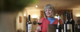Jancis Robinson tasting at home