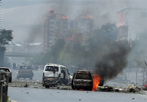 Site of Taliban suicide attack in Afghanistan