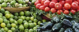 Piles of fresh produce (Blend Images via AP Images)