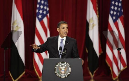 President Obama in Cairo, 2009 / AP