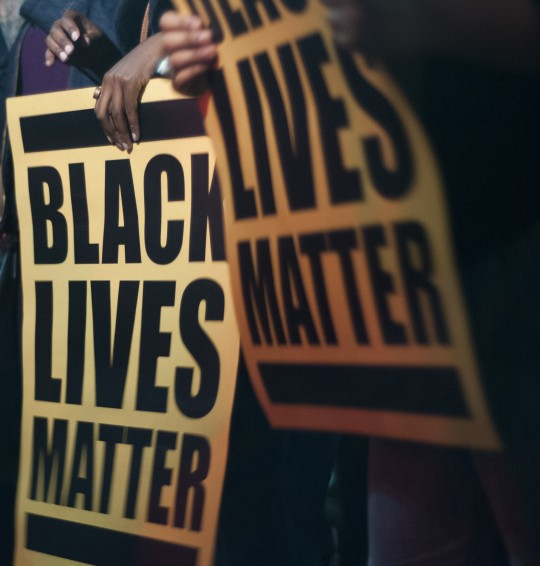 Black Lives Matter sign / AP