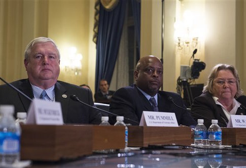 Danny Pummill at the Veterans' Affairs Committee hearing / AP
