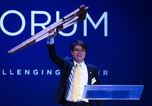 Ji Seong-ho at the Oslo Freedom Forum
