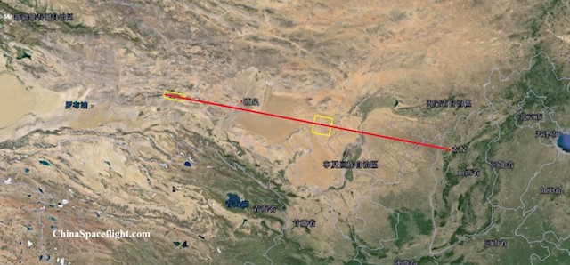 Flight path of the test / China Space Flight