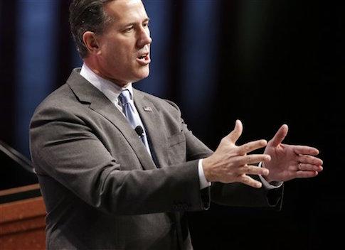 Republican presidential candidate Rick Santorum / AP