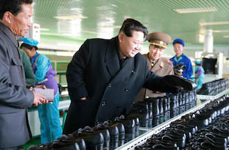 Kim Jon Un in Wonson, North Korea
