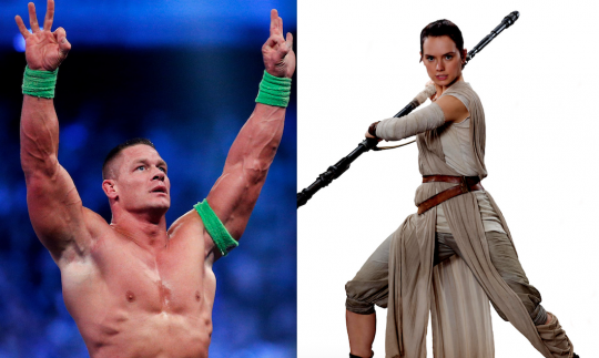 Rey is just a remixed John Cena in that neither can ever lose (h/t Max Landis, who made the original comparison)