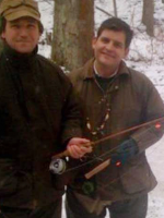 Buckley Carlson, right, with brother Tucker Carlson. / Facebook