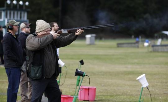 Man shoots shotgun / AP