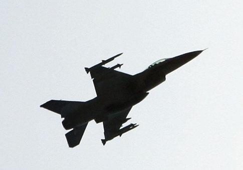 An F-16 fighter jet / AP