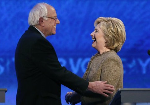 Bernie Sanders and Hillary Clinton / AP