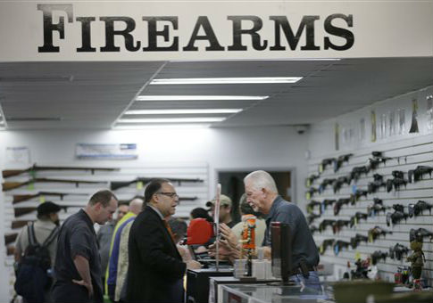 Bullseye Sport, a gun shop in Riverside Calif. / AP